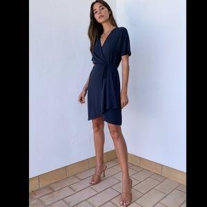 Aritzia babaton Wallace Dress Short-sleeve wrap